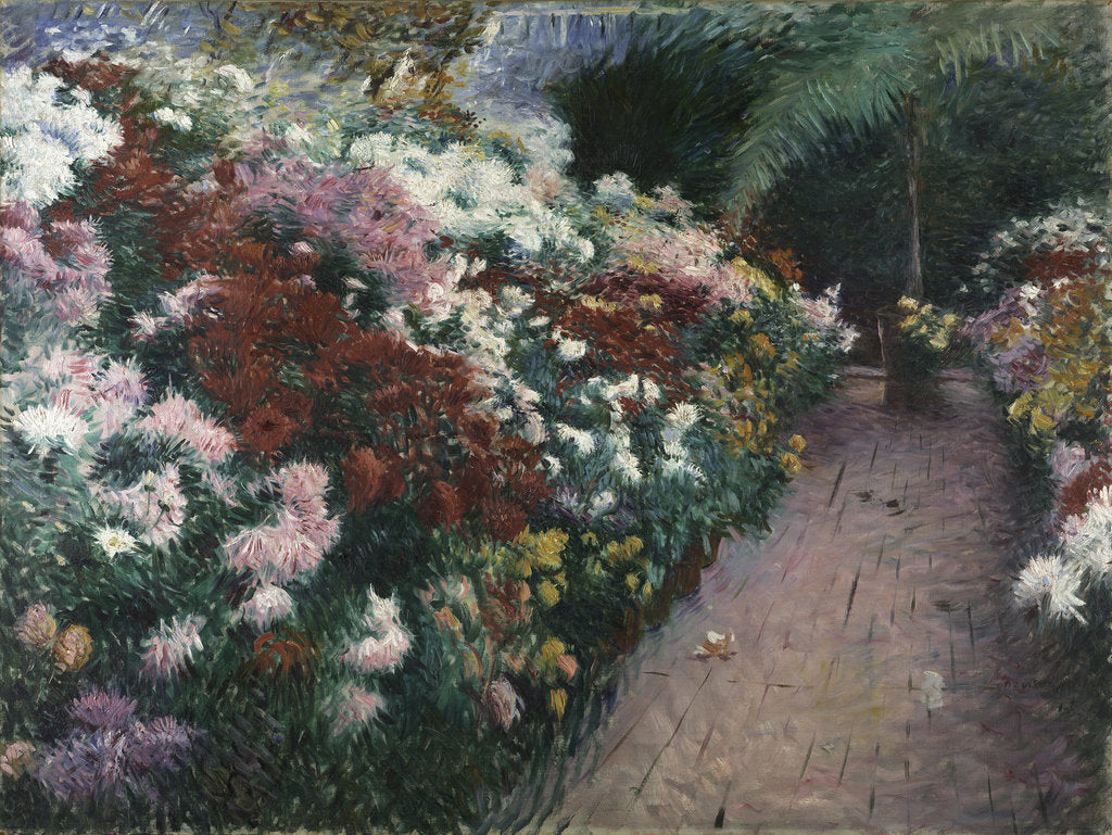 Detail of Chrysanthemums, 1888 by Anonymous