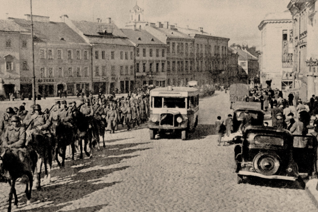 Detail of The Soviet Red Army in Vilnius, 1940, 1940 by Anonymous