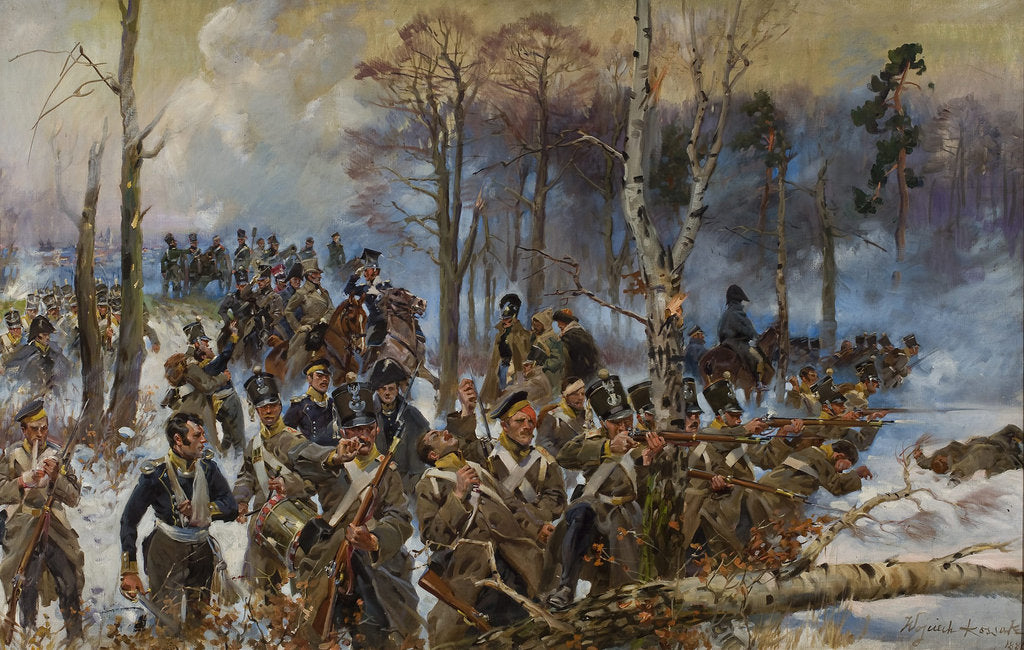 Detail of The battle of Olszynka Grochowska, February 25, 1831, 1886 by Anonymous