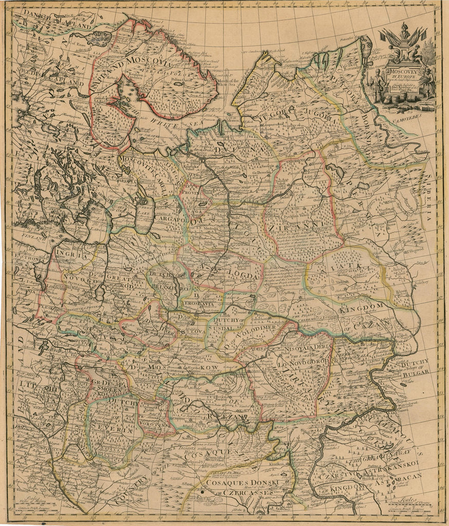 Map Of The European Russia 1721 Posters Prints By Anonymous