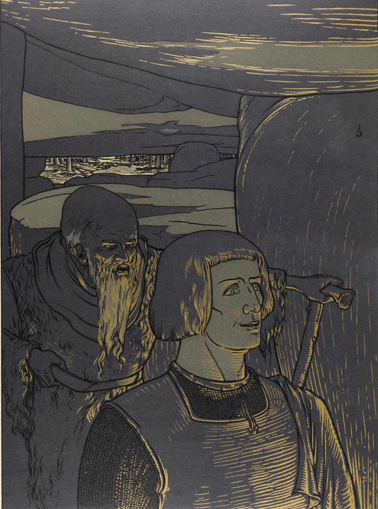 Illustration The Nibelungs, 1898-1901