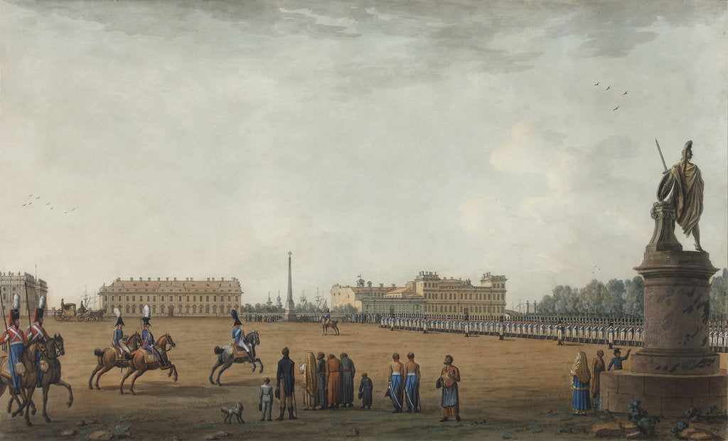 View of the Field of Mars and the Suvorov Monument in Saint Petersburg, 1807