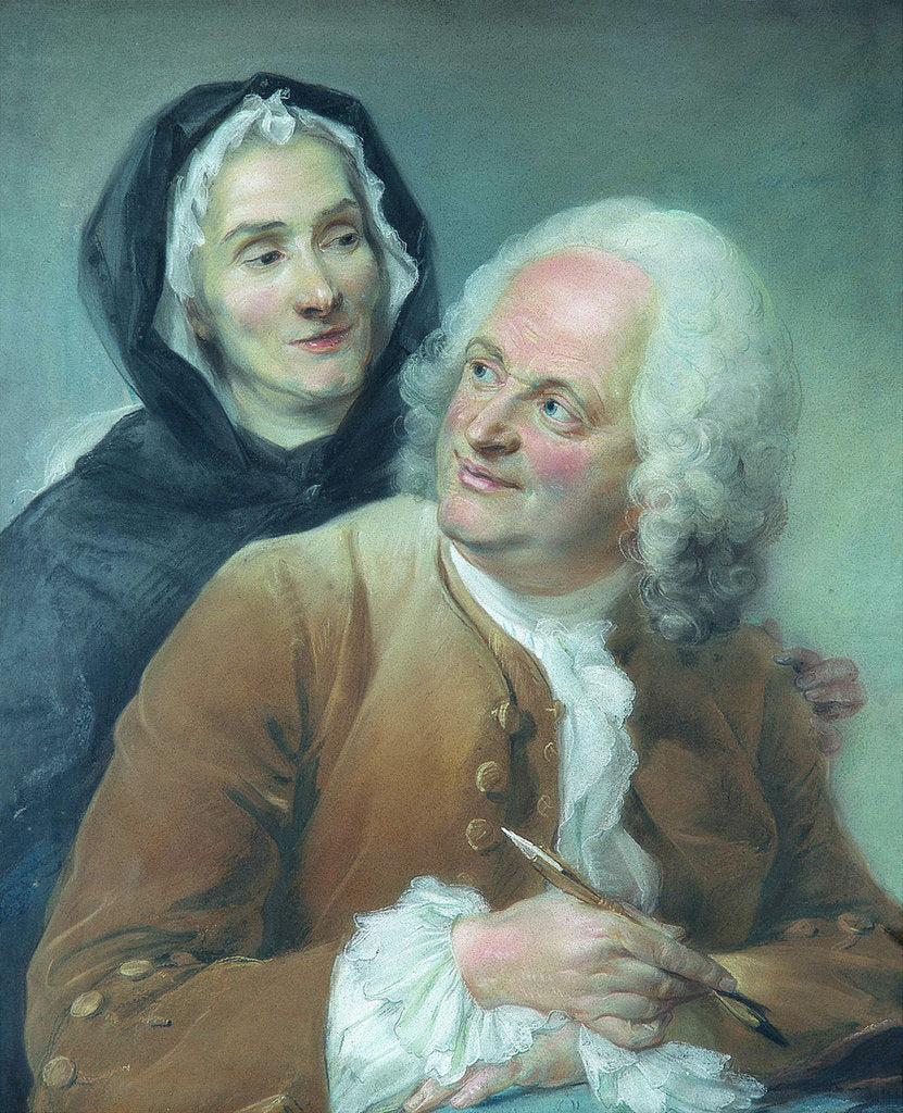 Portrait of Philippe Cayeux with his wife