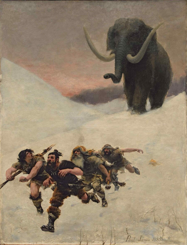 The Flight Before the Mammoth, 1885