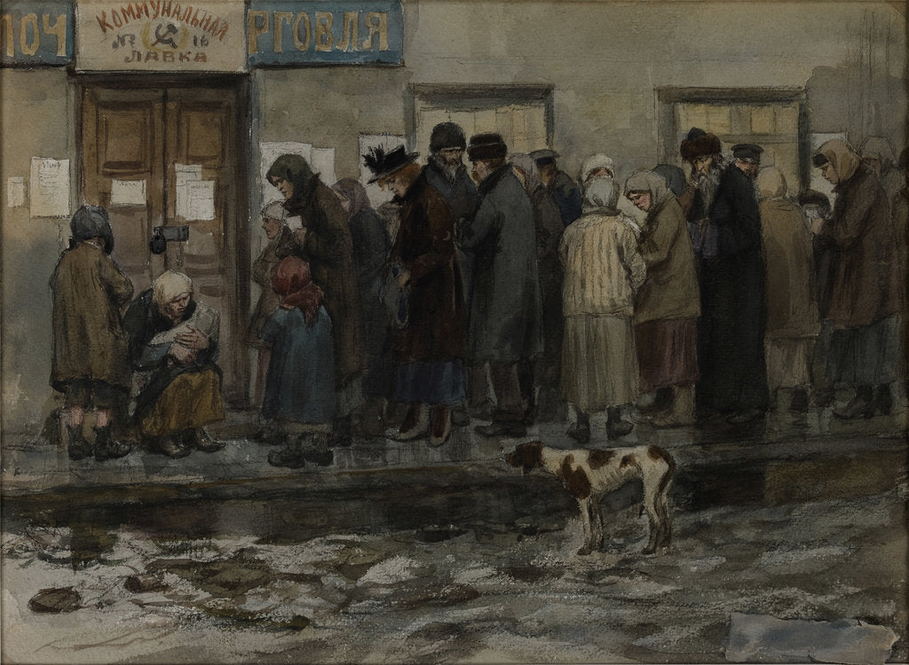 Waiting to receive an eighth of a pound of bread, 1919