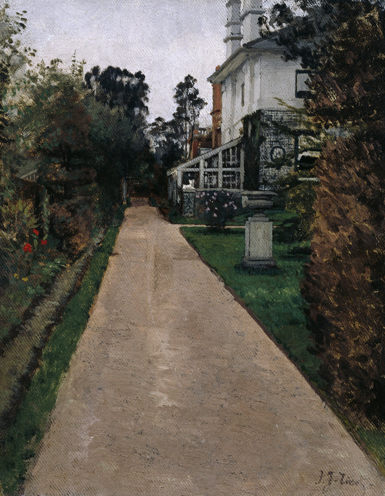 Detail of View of the garden at 17 Grove End Road by James Jacques Joseph Tissot