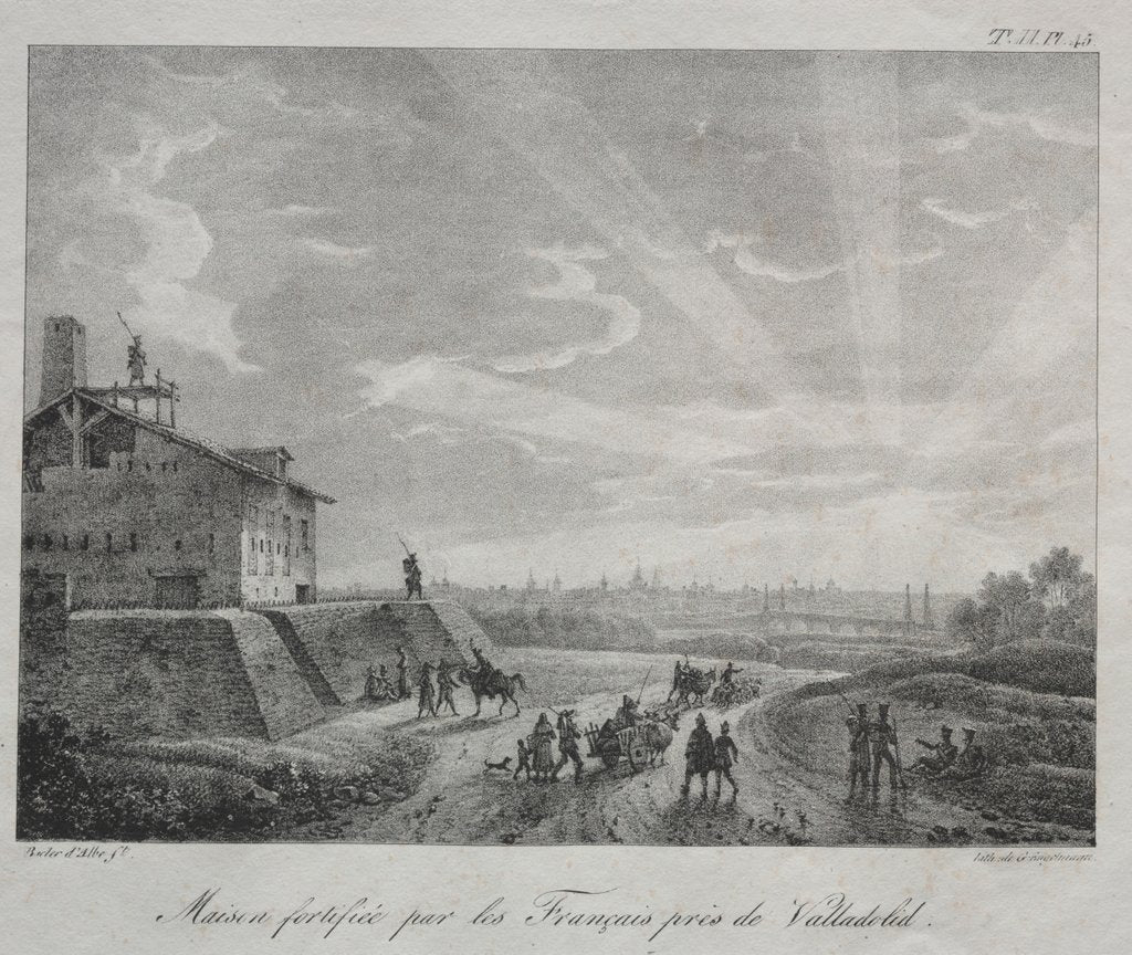 Spanish Campaign: A Building Fortified by the French near Valladolid