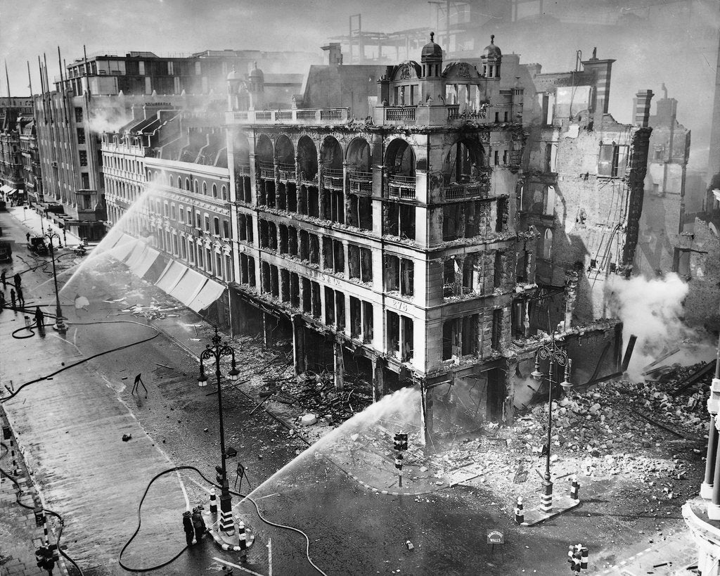 dde3746dec50 Detail of John Lewis Oxford Street bombing aftermath by Associated  Newspapers