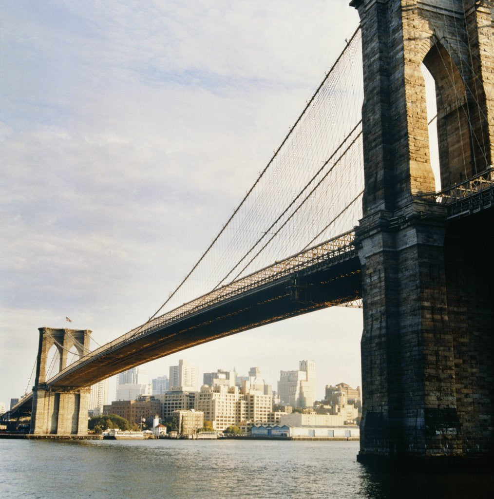 Detail of Brooklyn Bridge, New York City, USA by Corbis
