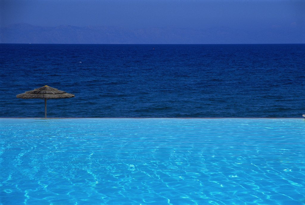 Detail of Blue of Pool, Sky and Sea by Corbis