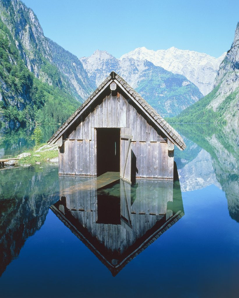 Detail of Fisherman's house in the Ober Lake, Bavaria, Germany by Corbis