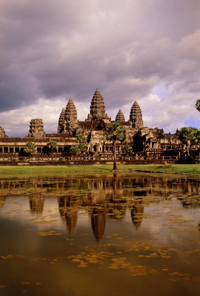 Detail of Angkor Wat temple, Cambodia, Asia by Corbis