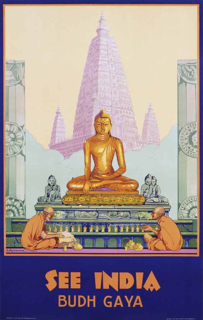 Detail of See India Poster by Dorothy Newsome