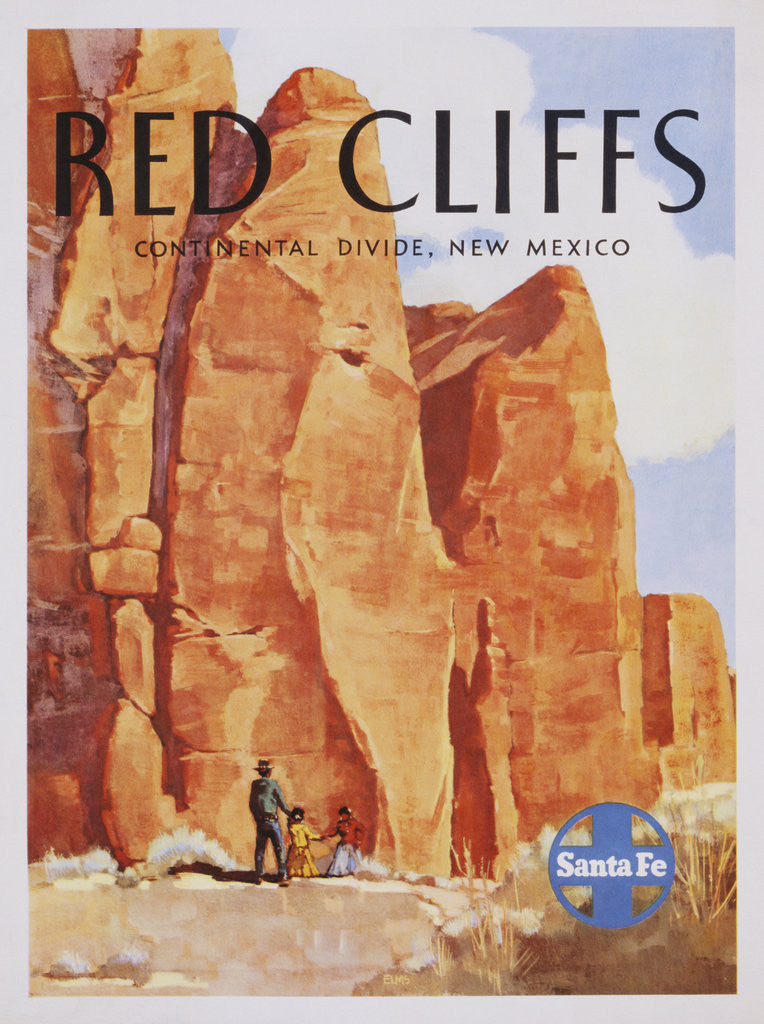 Red Cliffs Poster by Elms