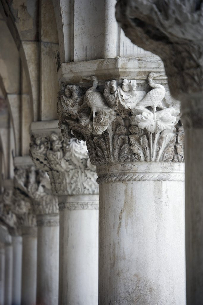 Detail of Columns of the Doge's Palace by Corbis