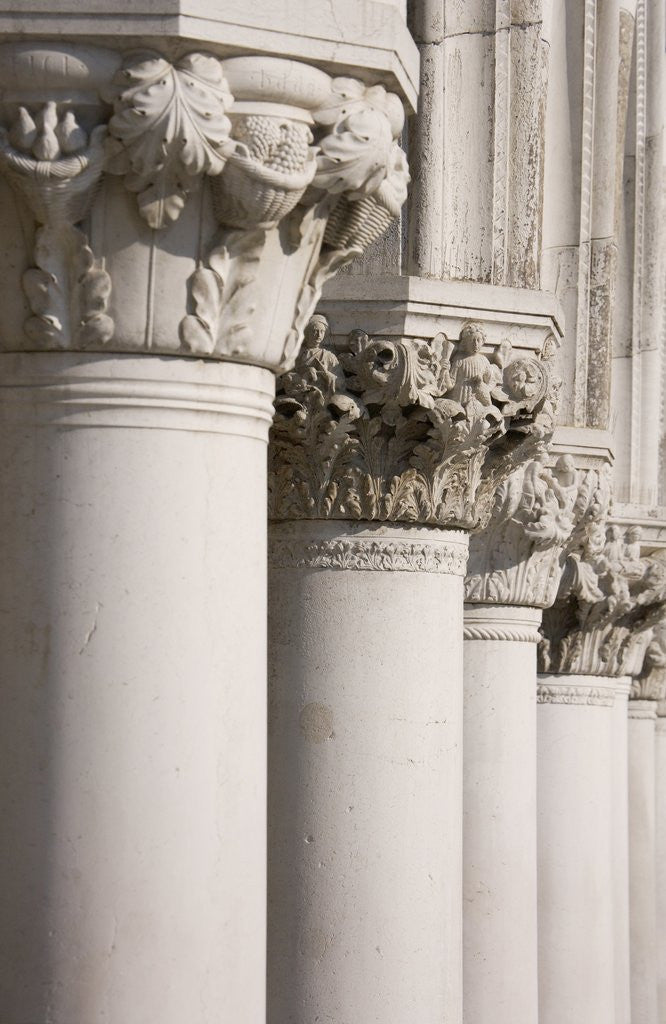 Detail of Column Sculptures of Doge's Palace by Corbis