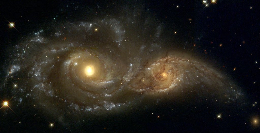 Detail of Galaxies Nearly Colliding by Corbis