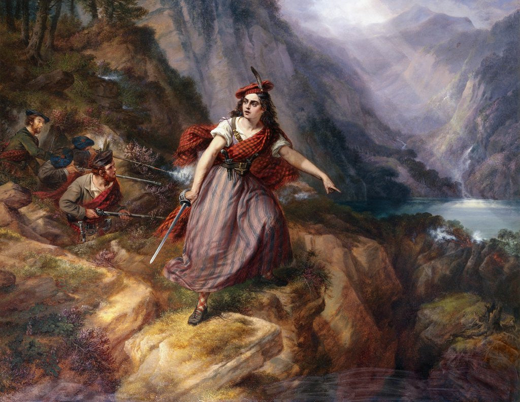 Detail of Helen MacGregor in the Conflict at the Pass of Loch Ard by Siegfried Detlev Bendixen
