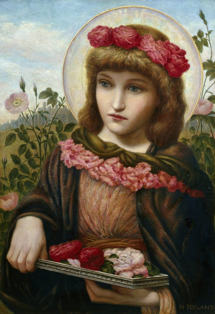 Dorothea and the Roses by Henry Ryland
