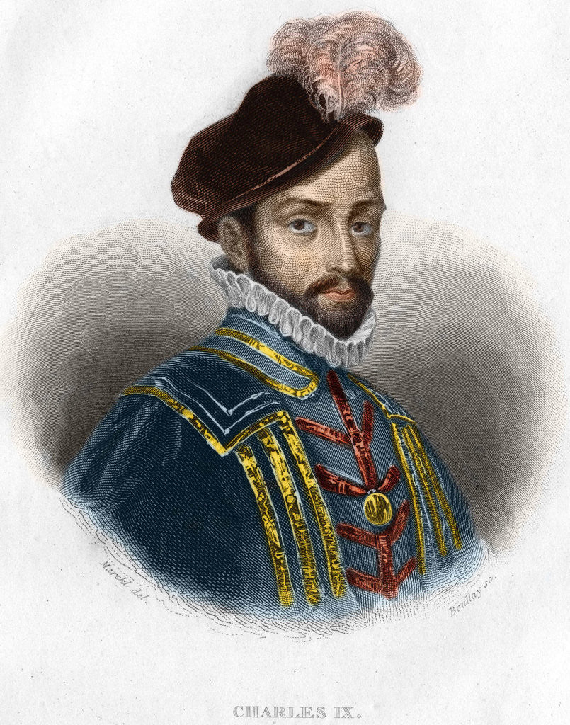 Detail of 19th-Century Portrait of Charles IX, King of France by Corbis