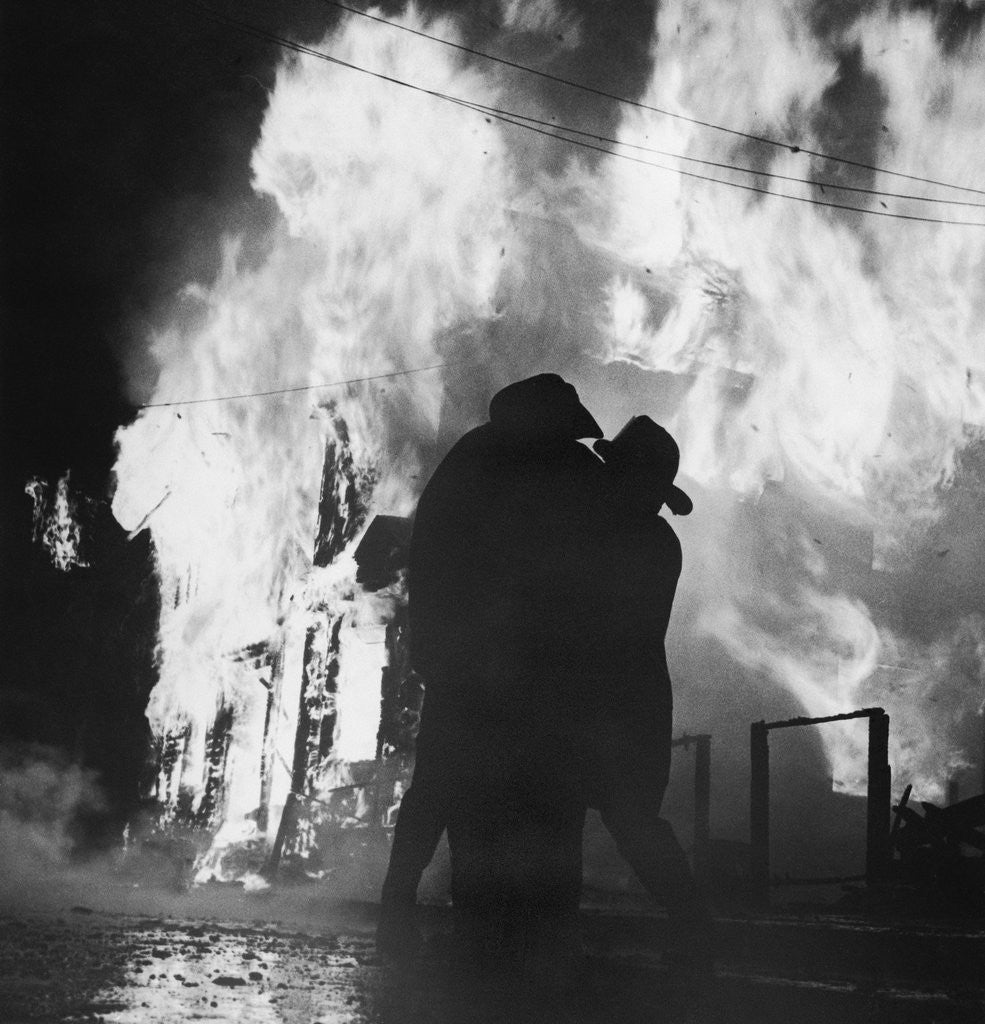 Detail of Firefighters Trying to Control Newark Fires by Corbis