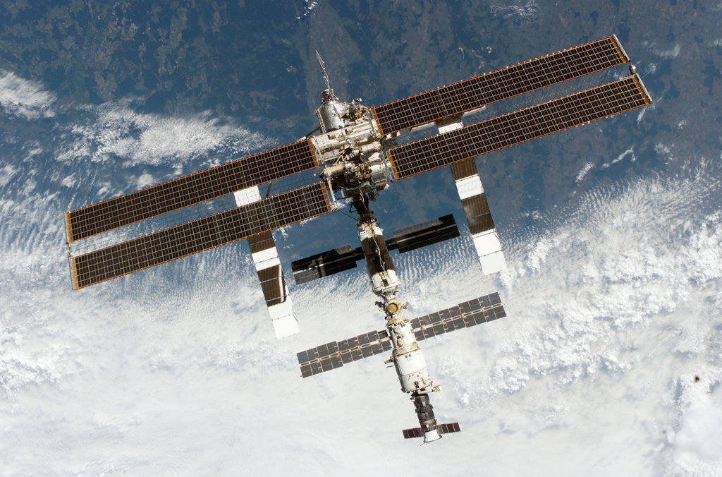 Detail of International Space Station by Corbis