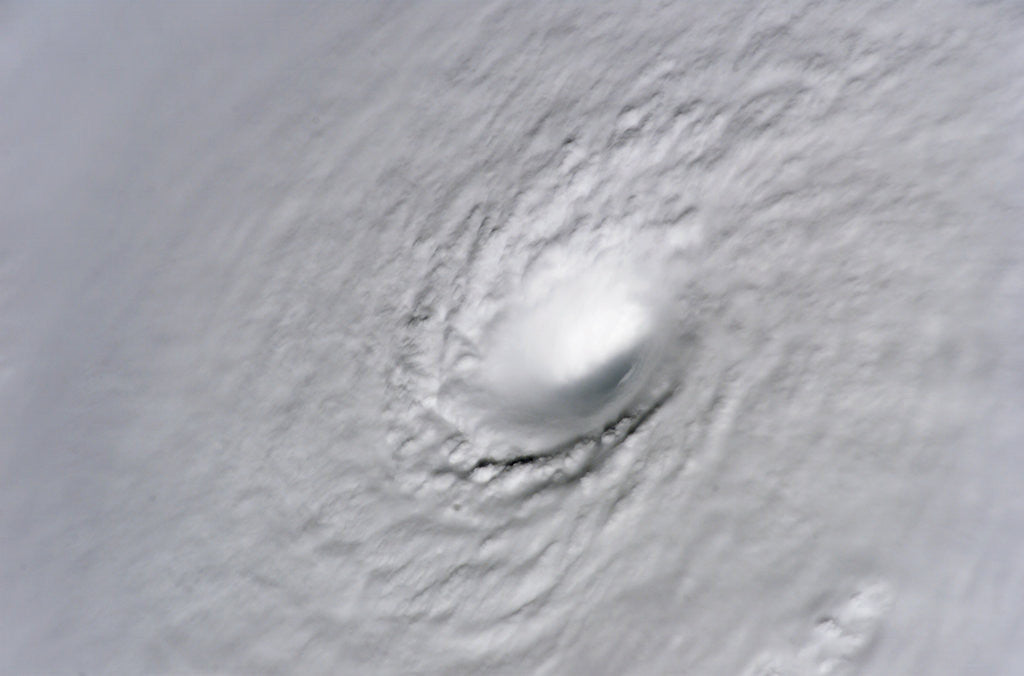 Detail of Eye of Hurricane Wilma by Corbis