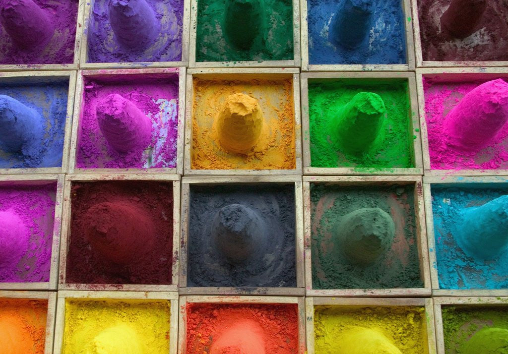 Detail of Color Powder by Corbis
