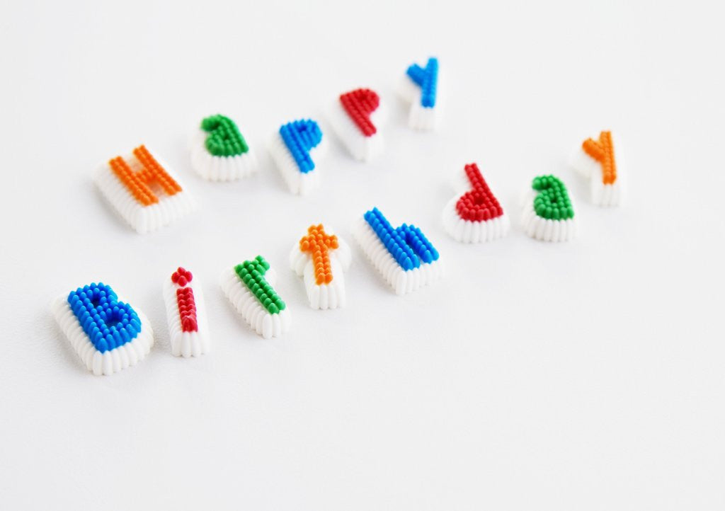Detail of Happy Birthday Letters by Corbis