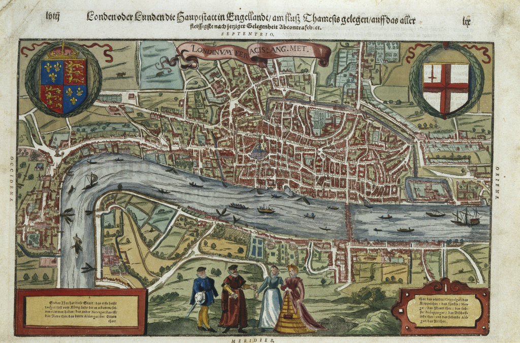 16th Century Map of London posters & prints by Corbis