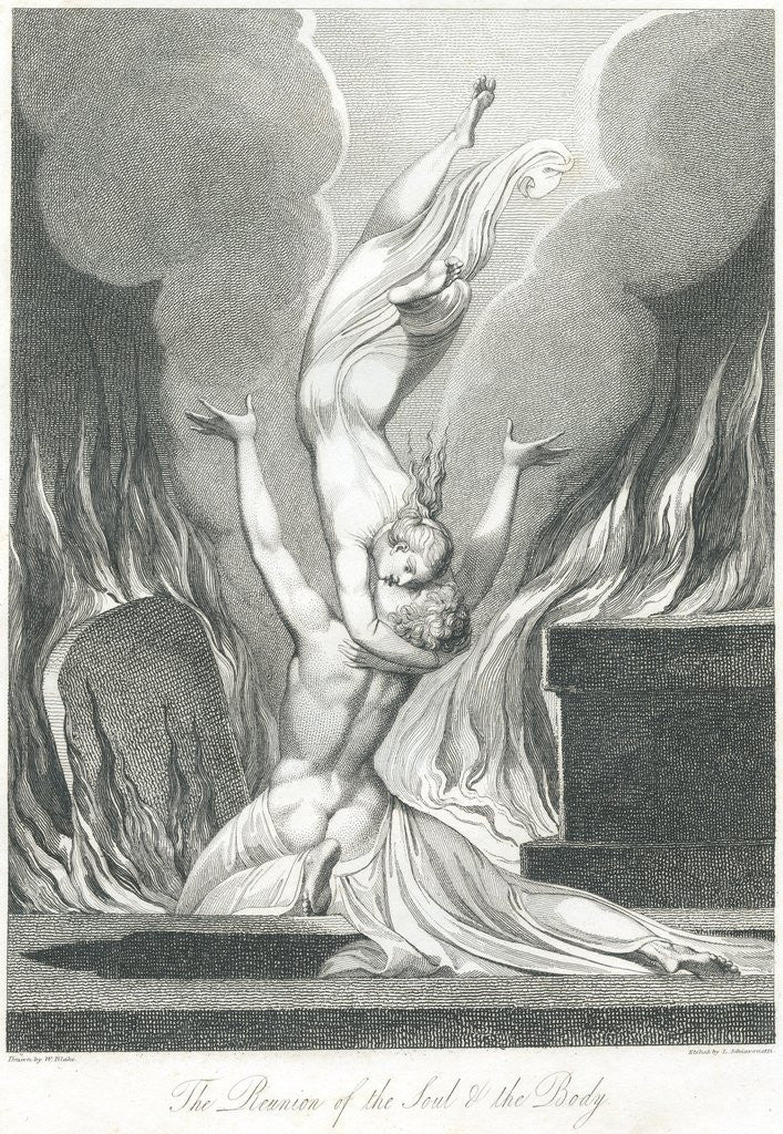 Detail of The Reunion of the Soul and the Body by William Blake