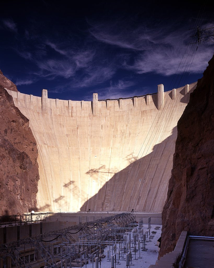 Detail of Dramatic light on the Hoover Dam by Corbis