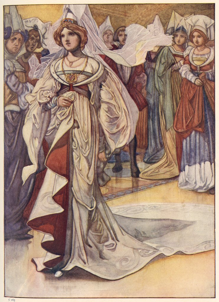 Detail of Cinderella Appears at the Ball by Charles Robinson