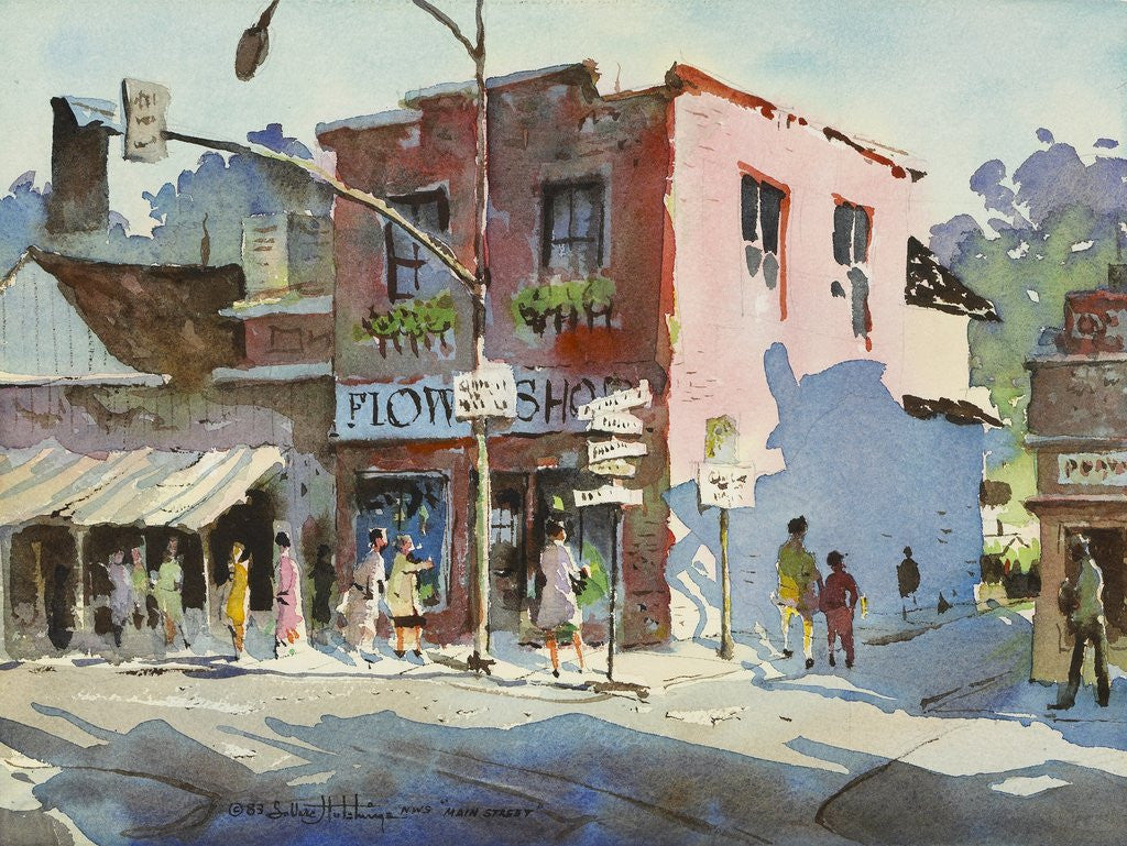 Detail of Main Street by LaVere Hutchings