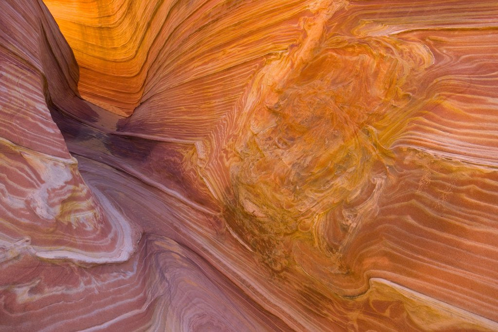 Twisted Layers and Patterns of Red Sandstone Formation