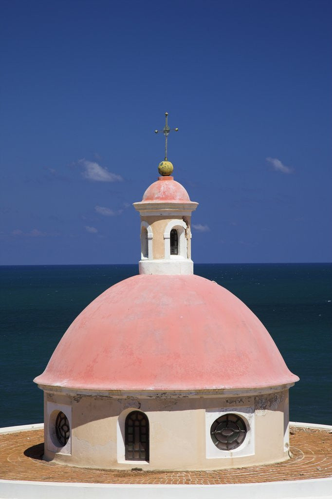 Detail of Pink Dome at El Morro Fortress by Corbis
