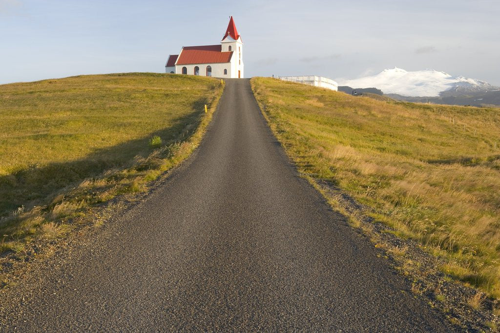 Detail of Church and Road by Corbis