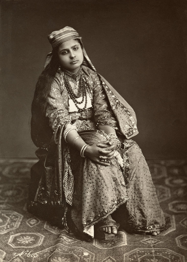 Detail of Woman of the Middle East by Corbis