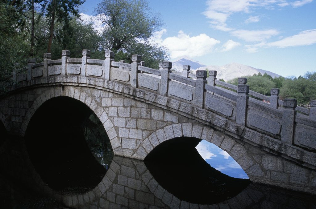 Detail of Bridge at Dragon King Pool by Corbis