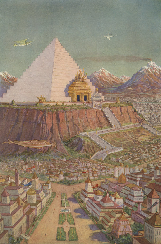 Detail of An Idealistic Depiction of the Atlantean Mystery Temple by J. Augustus Knapp