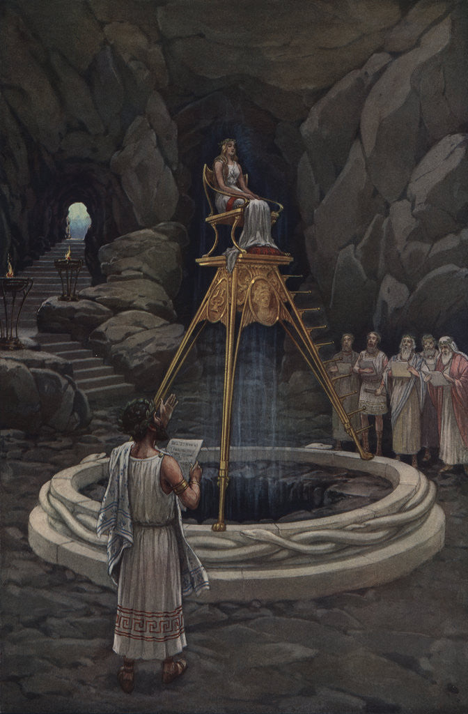 Consulting the Oracle of Delphi by J. Augustus Knapp