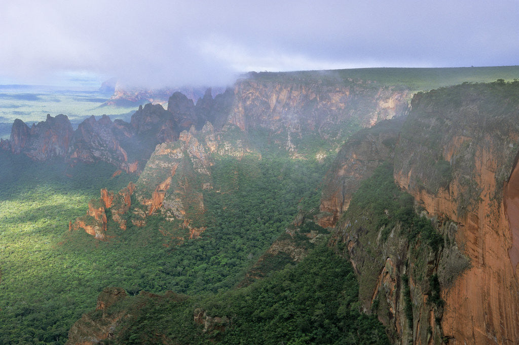 Detail of Chapada dos Guimaraes Mountain Range by Corbis