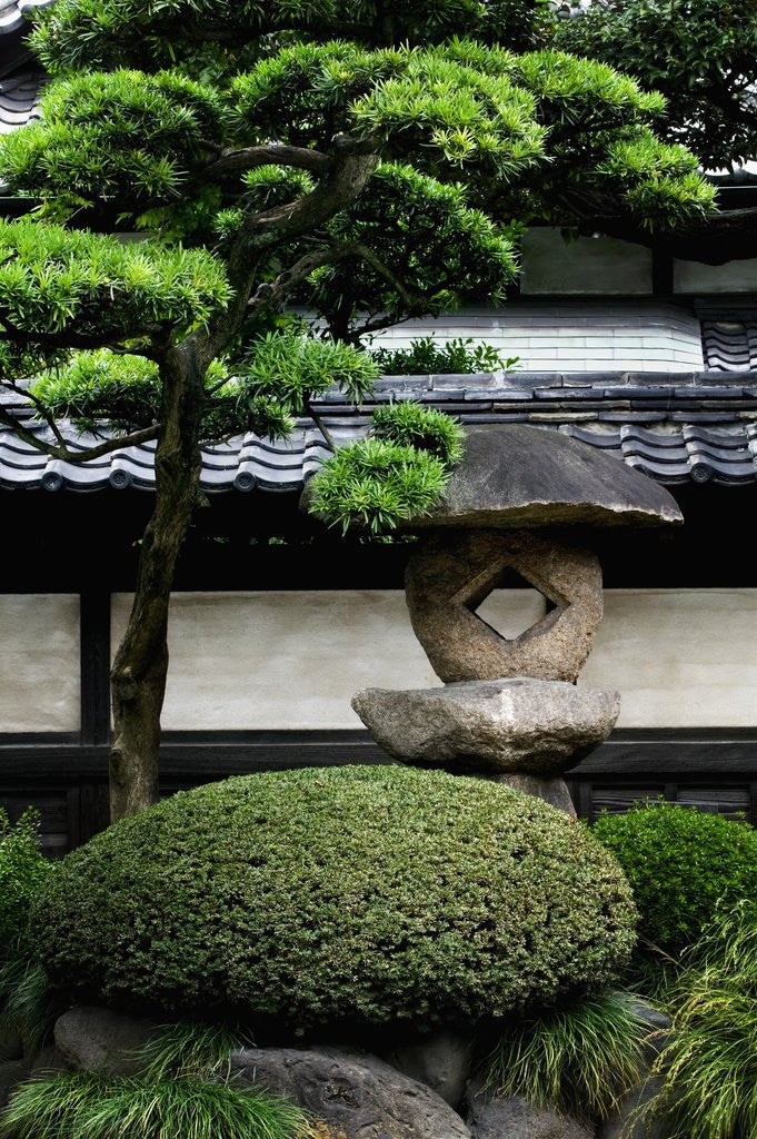 Detail of Garden in Senso-ji Temple by Corbis