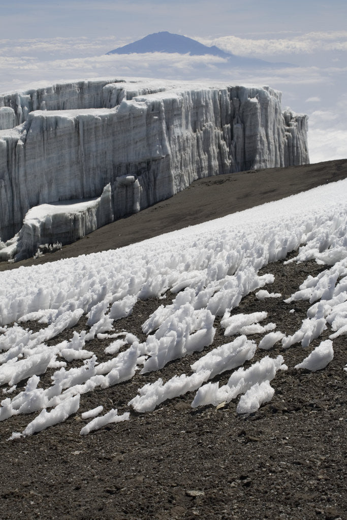 Detail of Glacier and Ice Patches by Corbis