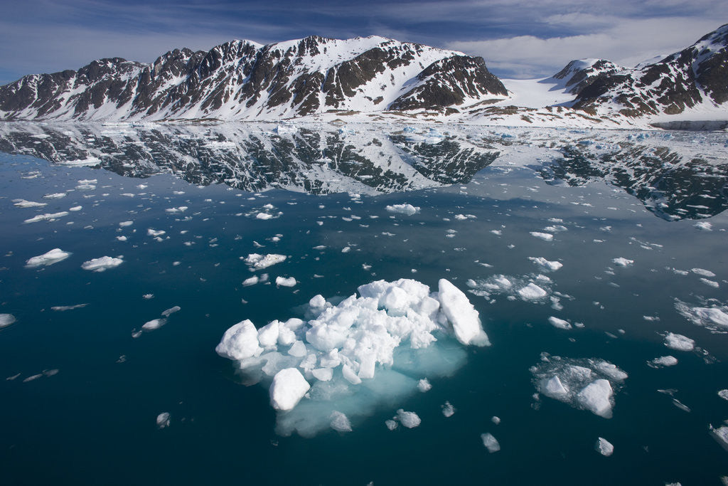 Detail of Bergy Bits Near Spitsbergen Island by Corbis