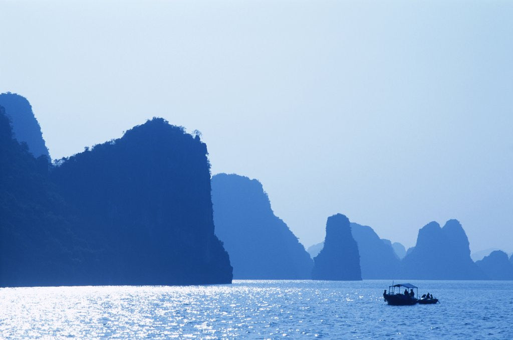 Detail of Boats in Halong Bay by Corbis