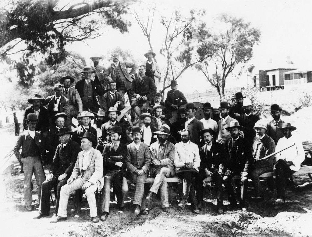 Detail of Men of Mildura in Victoria in 1889 by Corbis