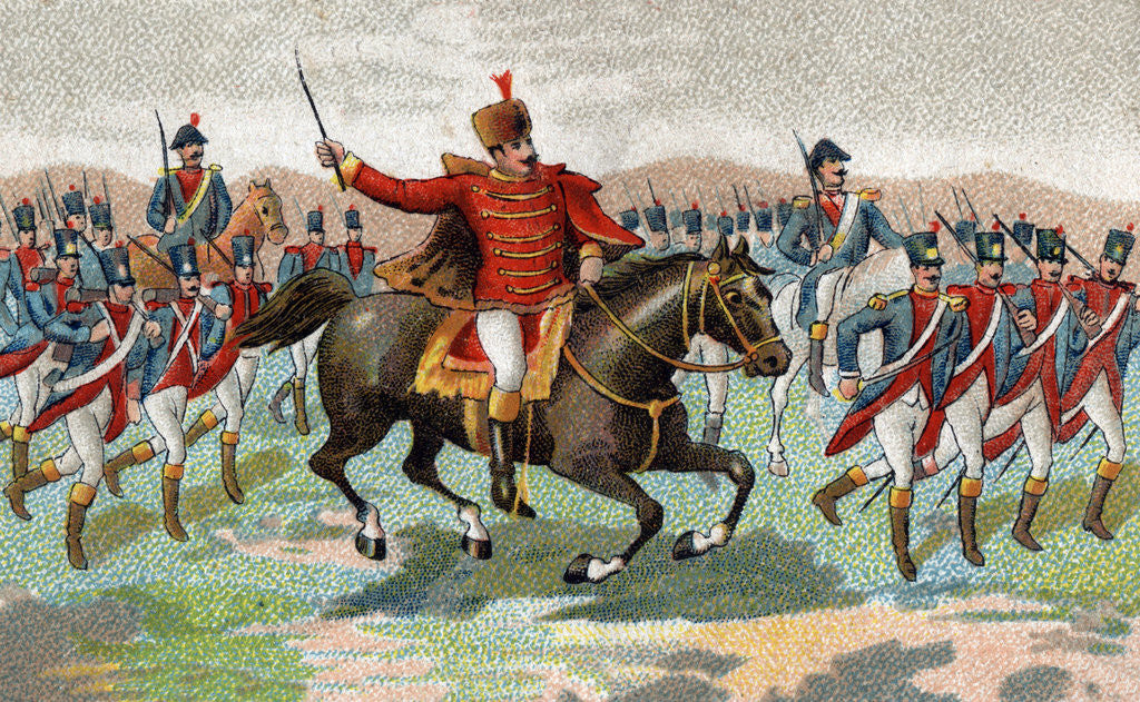 Illustration of Joachim Murat in the Battle of Iena by Corbis