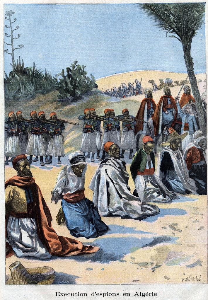 Detail of Illustration of the Execution of Spies in Algeria by Corbis
