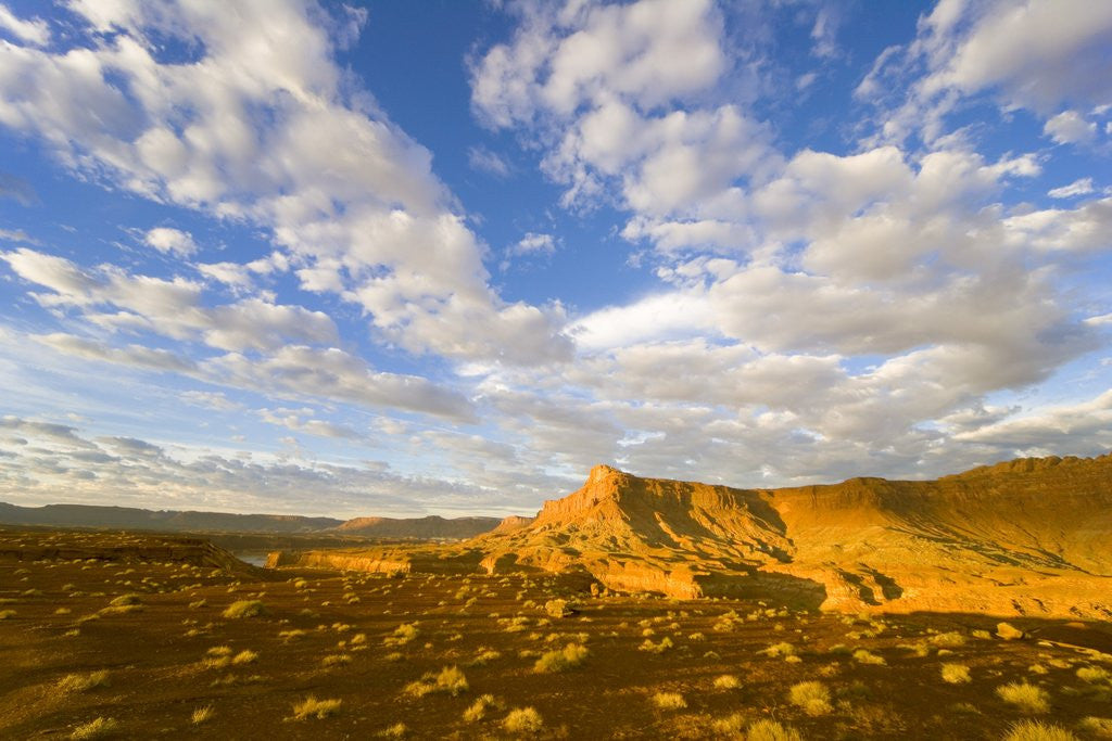Detail of Clouds Over Buttes at Sunrise by Corbis